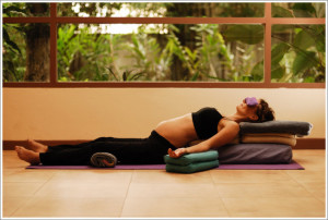 7 supported reclining pose - first trimester