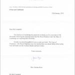 Kate Middleton letter yoga of pregnancy
