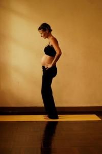 Pregnancy Yoga: Standing Pelvic Rotations (b)