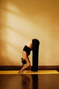 3a uttanasana standing forward bend - first trimester