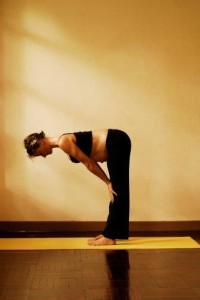 3b uttanasana standing forward bend - first trimester
