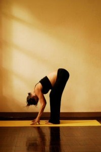 3c uttanasana standing forward bend - first trimester