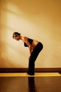 3d uttanasana standing forward bend - first trimester