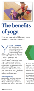 Autism and Yoga